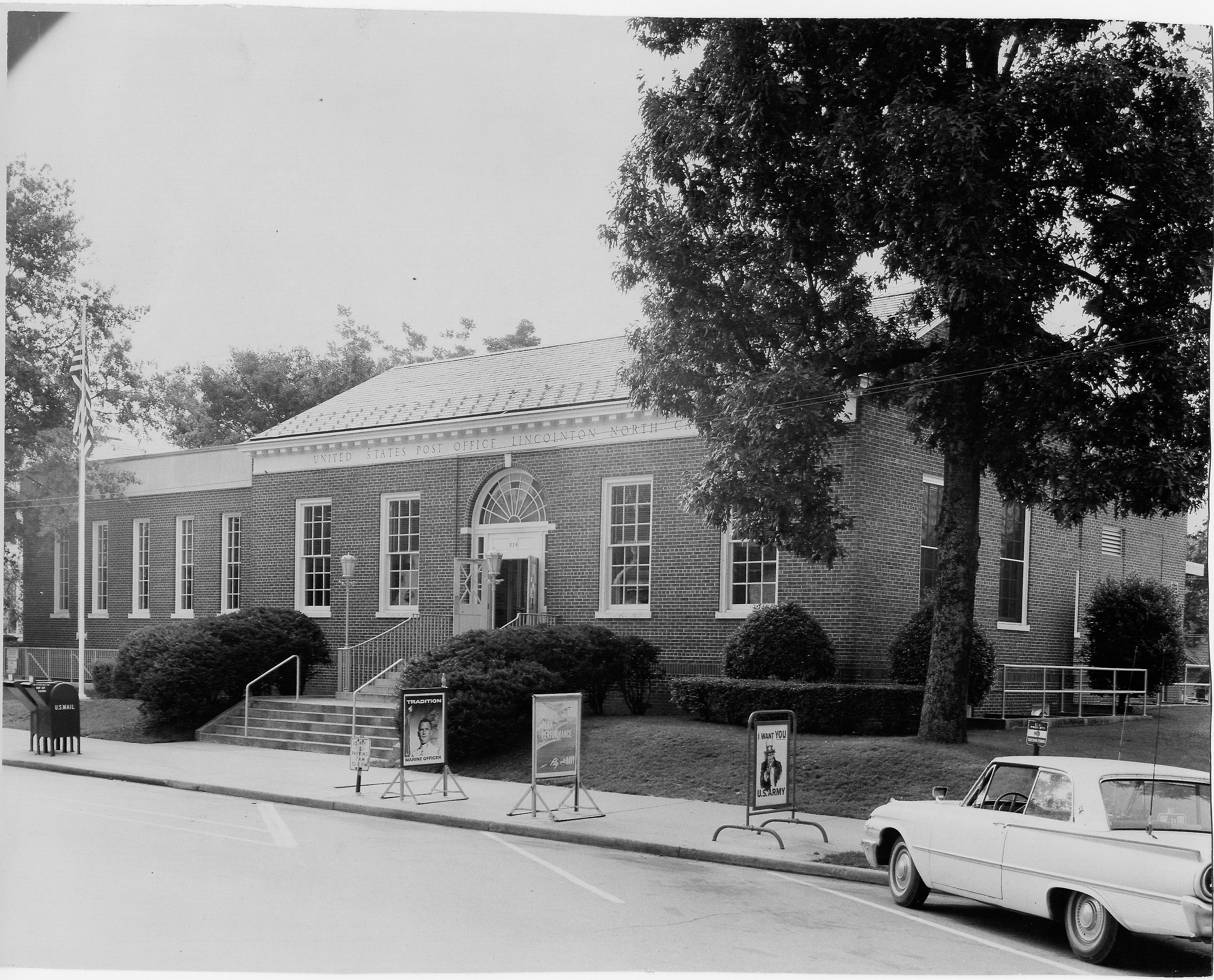 Lincolnton's current post office was built in 1937.